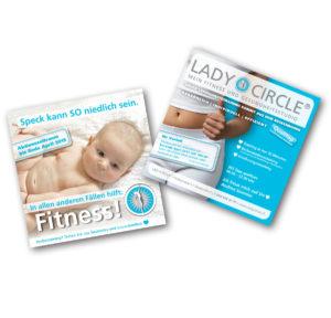 Damen Lady Frauen Fitness-Studio Zeitungsanzeige, Flyer