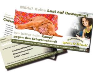 Fitnesskampagne Schweinehund Flyer