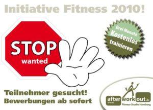 Fitness-Studio Aktion, Marketing-Kampagne, Werbung - Fitness-Initiative