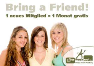 Fitness-Studio Aktion, Marketing-Kampagne, Werbung - Bring a Friend