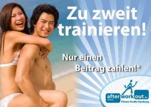 Fitness-Studio Aktion, Marketing-Kampagne, Werbung - Zu zweit trainieren