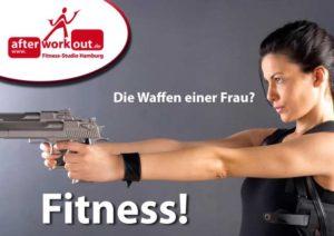 Fitness-Studio Aktion, Marketing-Kampagne, Werbung - Die Waffen einer Frau
