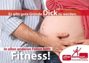 Fitness-Studio Aktion, Marketing-Kampagne, Werbung - gute Gründe für Fitness