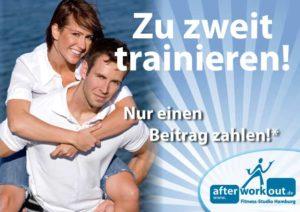 Fitness-Studio Aktion, Marketing-Kampagne, Werbung - Zwei zum Preis von Einem