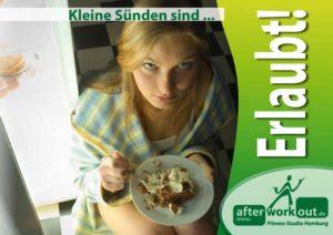 Fitness-Studio Aktion, Marketing-Kampagne, Werbung - Kleine Sünden erlaubt