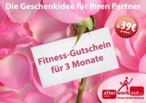 Fitness-Studio Aktion, Marketing-Kampagne, Werbung - Geschenkidee Geschenk Gutschein