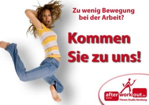 Fitness-Studio Aktion, Marketing-Kampagne, Werbung - Zu wenig Bewegung bei der Arbeit