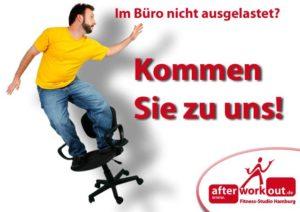 Fitness-Studio Aktion, Marketing-Kampagne, Werbung - Zu wenig Bewegung bei im Büro