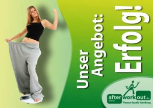 Fitness-Studio Aktion, Marketing-Kampagne, Werbung - Erfolgreich abnehmen