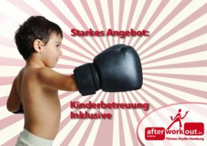 Fitness-Studio Aktion, Marketing-Kampagne, Werbung - Kinderbetreuung