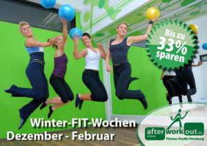 Fitness-Studio Aktion, Marketing-Kampagne, Werbung - Winteraktion