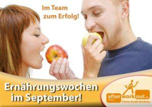 Fitness-Studio Aktion, Marketing-Kampagne, Werbung - Ernährungswochen