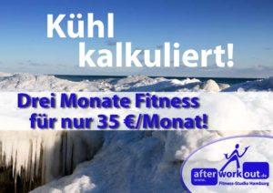 Fitness-Studio Aktion, Marketing-Kampagne, Werbung - kühl kalkuliert