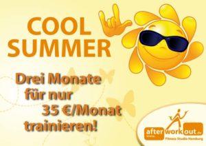 Fitness-Studio Aktion, Marketing-Kampagne, Werbung - cooler Sommer, cool summer