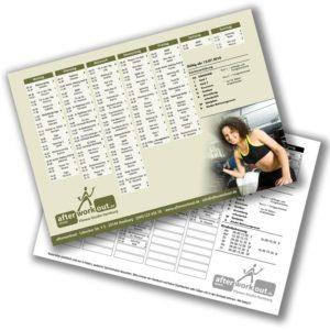 Fitness-Studio Kursplan - A4 Flyer