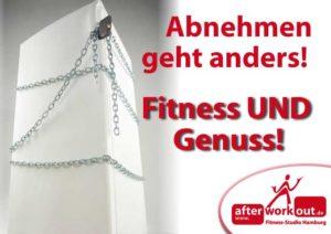 Fitness-Studio Aktion, Marketing-Kampagne, Werbung - Abnehmen mit Genuss