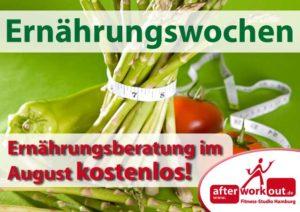 Fitness-Studio Aktion, Marketing-Kampagne, Werbung - Ernährungsberatung in den Ernährungswochen