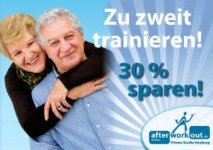 Fitness-Studio Aktion, Marketing-Kampagne, Werbung - Zu zweit sparen