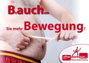 Fitness-Studio Aktion, Marketing-Kampagne, Werbung - Bauch weg durch Bewegung