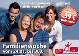 Fitness-Studio Aktion, Marketing-Kampagne, Werbung - Familienwoche