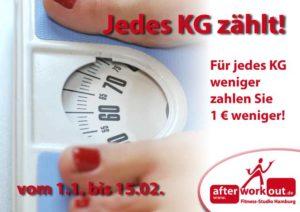 Fitness-Studio Aktion, Marketing-Kampagne, Werbung - Waage Übergewicht abnehmen