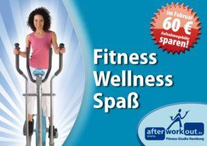 Fitness-Studio Aktion, Marketing-Kampagne, Werbung - Wellness Spaß