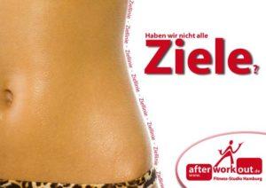 Fitness-Studio Aktion, Marketing-Kampagne, Werbung - Ziele Ziellinie