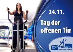 Fitness-Studio Aktion, Marketing-Kampagne, Werbung - Tag der offenen Tür