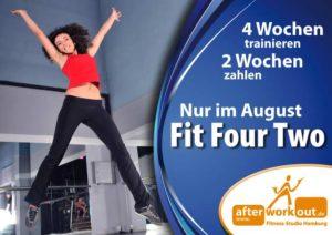 Fitness-Studio Aktion, Marketing-Kampagne, Werbung - Fit for Two - Zwei zum Preis von Einem