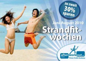 Fitness-Studio Aktion, Marketing-Kampagne, Werbung - Fit für den Strand, Bikinifigur