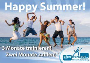 Fitness-Studio Aktion, Marketing-Kampagne, Werbung - Happy Summer