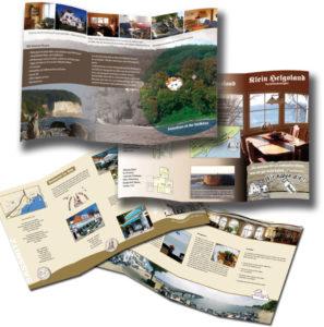 Restaurant Gastronomie Hotel Pension - Flyer Imagebroschüre