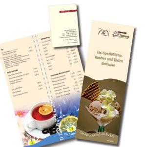 Restaurant Gastronomie Hotel - Steakhouse Speisekarten Visitenkarten