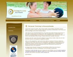 Webdesign Internetseite Homepage Personaltraining