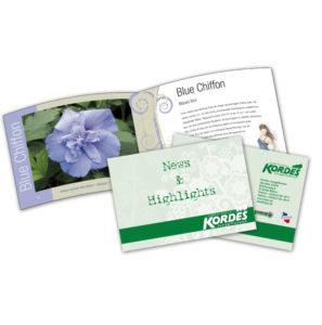 Broschüre Baumschule, Jungpflanzen, Anzeige, Zeitungsbeilage, Gartencenter