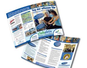 Fitnessstudio - Tag der offenen Tür - Flyer - Zeitungsbeilage